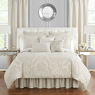 Waterford Sutherland Queen Comforter Set, Ivory, rollover