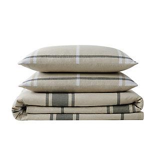 Truly Soft Preston Plaid Twin XL 2 Piece Flannel Duvet Cover Set, Khaki, large