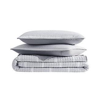 Brooklyn Loom Niari Yarn Dye Stripe 2 Piece Twin/Twin XL Quilt Set, Gray, large