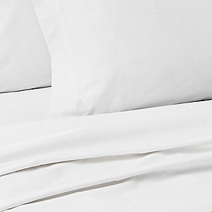 Marquis by Waterford Zetta 4 Piece Queen Sheet Set, White, large