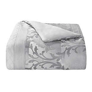 Marquis by Waterford Verina 7 Piece Queen Comforter Set, Silver, large