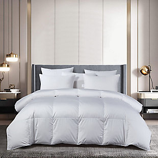 Beautyrest 400 Thread Count All Seasons Twin Down Comforter, White, rollover