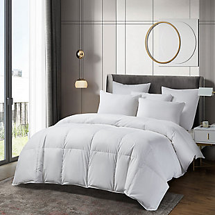 Beautyrest Light Warmth Twin Down Comforter, White, rollover
