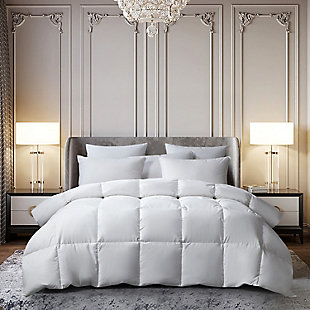 Beautyrest 233 Thread Count All Seasons Twin Down Comforter, White, rollover