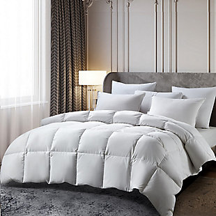 Beautyrest 233 Thread Count All Seasons Twin Down Comforter, White, large