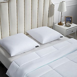 Beautyrest 233 Thread Count Down Firm Euro Pillow 2-Pack, , rollover