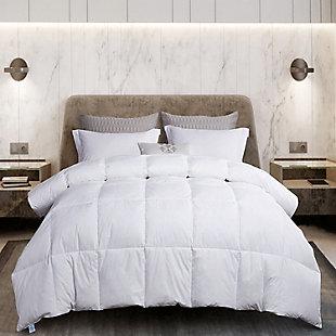 Martha Stewart 240 Thread Count All Seasons Twin Down Comforter, White, rollover