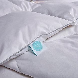 Martha Stewart 240 Thread Count All Seasons Twin Down Comforter, White, large