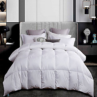 Martha Stewart 300 Thread Count All Seasons Twin Down Comforter, White, rollover