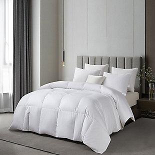 Martha Stewart 300 Thread Count Light Warmth Twin Down Comforter, White, rollover