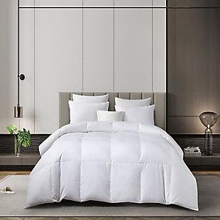 Martha Stewart 300 Thread Count Light Warmth Twin Down Comforter, White, large