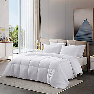 Martha Stewart 300 Thread Count All Seasons Twin Cooling Comforter, White, rollover