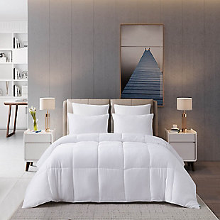 Martha Stewart 300 Thread Count All Seasons Twin Cooling Comforter, White, large