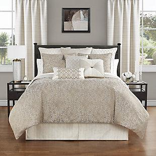 Waterford Spencer Queen Comforter Set, Mocha, rollover