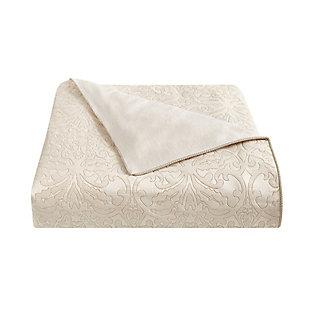 Waterford Valetta Queen 4 Piece Comforter Set, Ivory, large