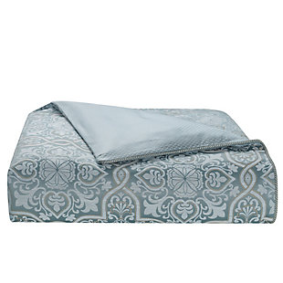 Waterford Arezzo Queen 4 Piece Comforter Set, Blue, large