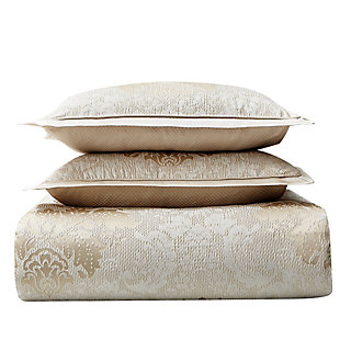 Waterford Ameline Queen 4 Piece Comforter Set, Ivory, large