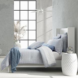 Royal Court Franco Twin/Twin XL 2 Piece Comforter Set, Powder Blue, rollover