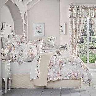 Royal Court Chardonnay Full 4 Piece Comforter Set, Ivory, large