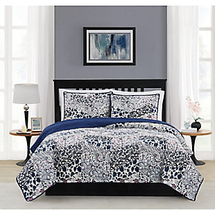 Cannon Chelsea Twin/Twin XL 2 Piece Quilt Set, Blue Multi, rollover