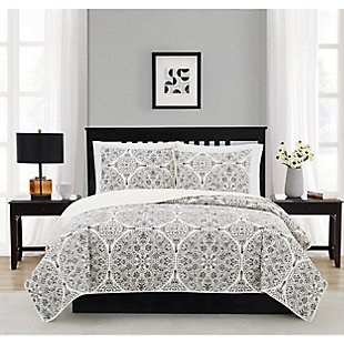 Cannon Gramercy Gray Twin/Twin XL 2 Piece Quilt Set, Gray, rollover