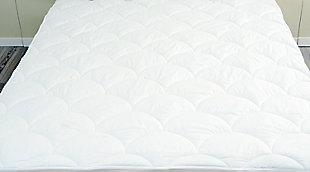 Hotel Elegance 300TC Luxury Queen Mattress Pad, White, large