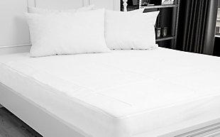 Down Home Memory Foam Twin Mattress Pad, White, rollover