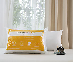 Down Home Two Pack Micro Gel Standard Pillow, White, rollover