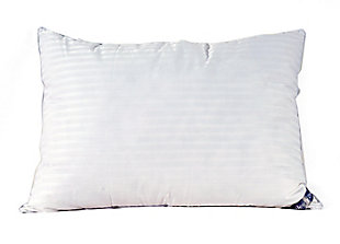 Down Home Nearly Down Cotton MicroGel 2 Pack Traditional Standard Pillow, White, large