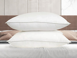 SilvaSleep Traditional Twin Pack Standard Pillow, White, rollover