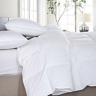 Mini Feather Twin Comforter, White, large