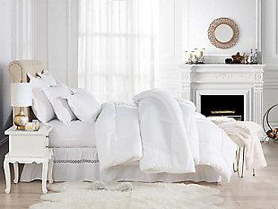 Swift Home Luxurious Classic Light Warmth All Season Down Twin Alternative Comforter, White, rollover