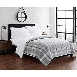 Cannon Cozy Teddy Twin/Twin XL Blanket, Gray, rollover