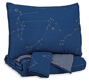 Ekin Full Quilt Set, Navy/Gray, large
