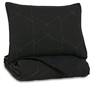 Meliora Twin Quilt Set, Black/White/Gray, large