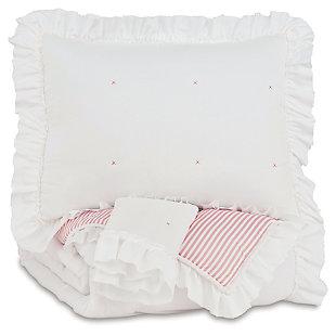 Jenalyn Full Comforter Set, Light Pink/White, large