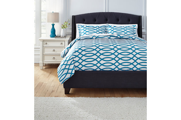 Leander Queen Duvet Cover Set