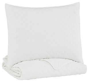 Ryter Twin Coverlet Set, White, large