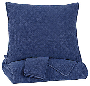 Ryter Queen/Full Coverlet Set, Navy, large