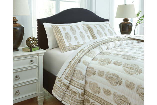 Almeda 3-Piece Queen Coverlet Set by Ashley HomeStore, Ta...
