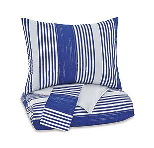 Taries 3-Piece Full Duvet Cover Set, Blue, large