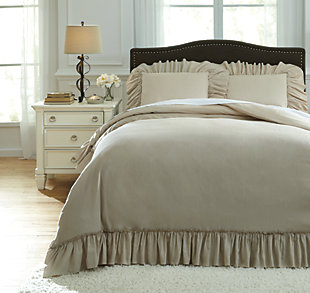 Clarksdale 3-Piece King Duvet Cover Set, Natural, large