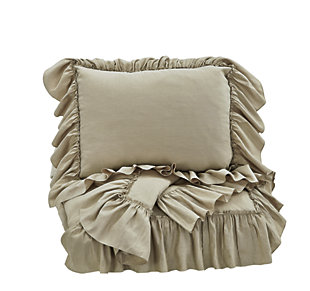 Clarksdale 3-Piece Queen Duvet Cover Set, Natural, large
