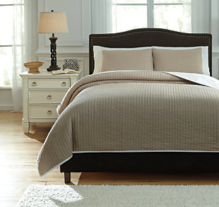 Orson 3-Piece Queen Coverlet Set, Natural, large