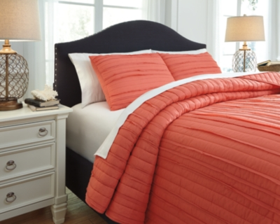 King Coverlet Set Coral Piece Product Photo 2354