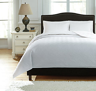 Aldis 3-Piece Queen Coverlet Set, White, large