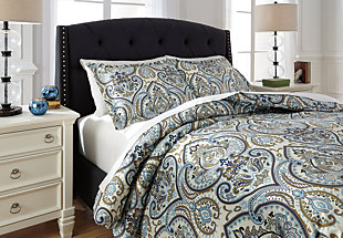 Soliel 3-Piece Queen Duvet Cover Set, Multi, rollover