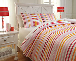 Genista 3-Piece Full Duvet Cover Set, Multi, rollover