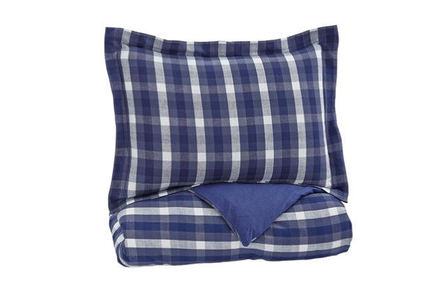 Baret 2-Piece Twin Duvet Cover Set, Blue, large
