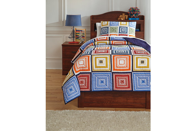 Tazzoni 2-Piece Twin Coverlet Set, Multi, large